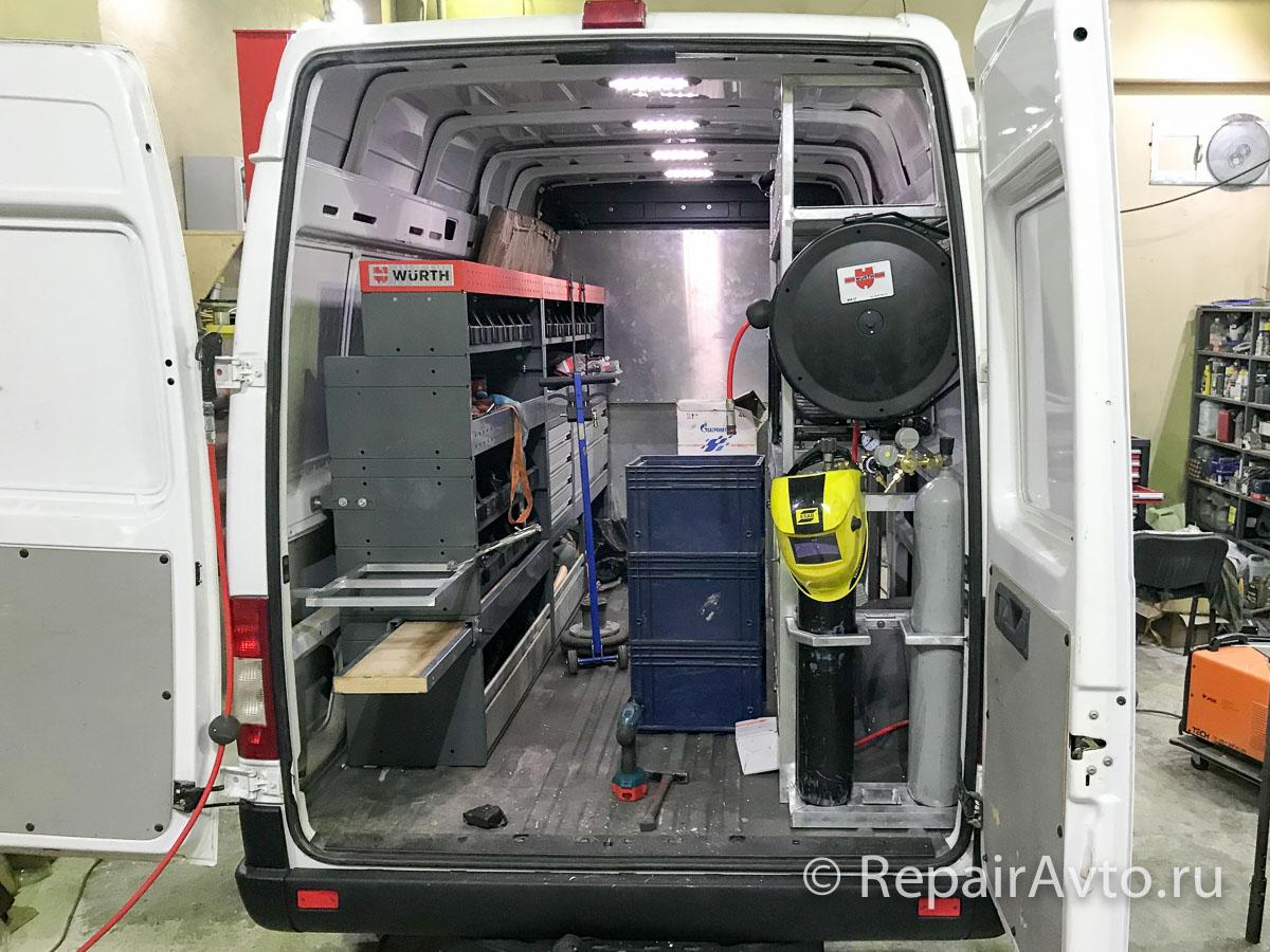 Переоборудование Mercedes Sprinter в техничку
