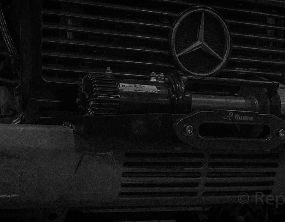 Установка лебедки на Mercedes-Benz G-Class