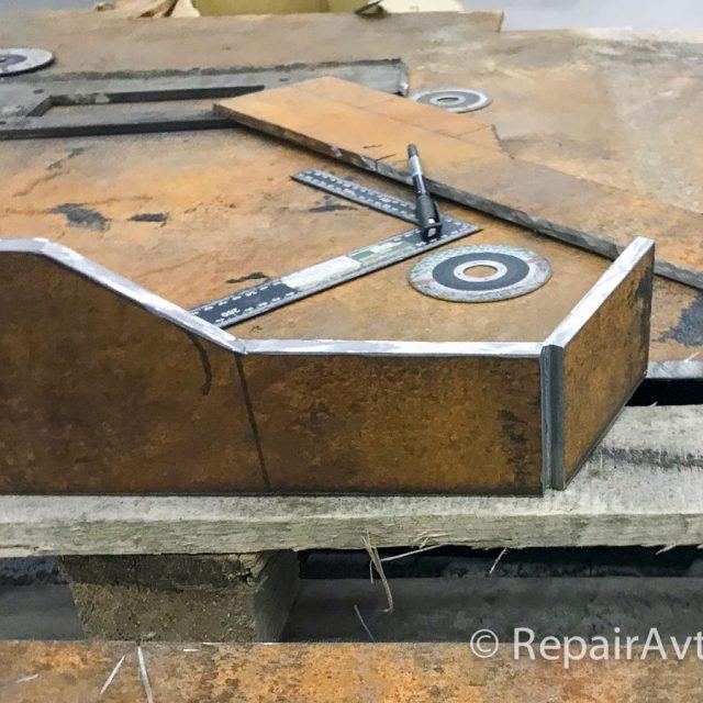 Изготовление площадки для установки лебедки