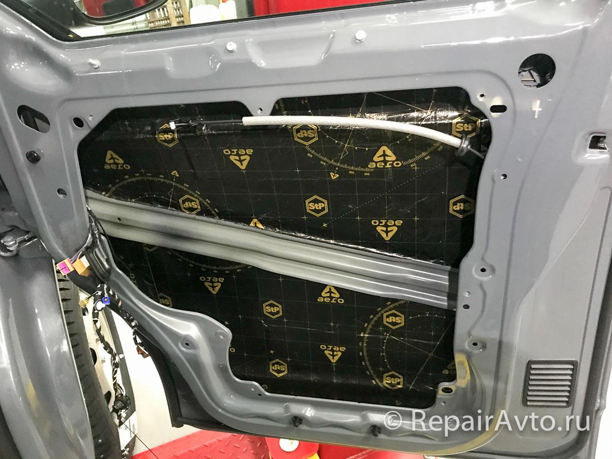 Утепление и шумоизоляция передних дверей Volkswagen Caravelle