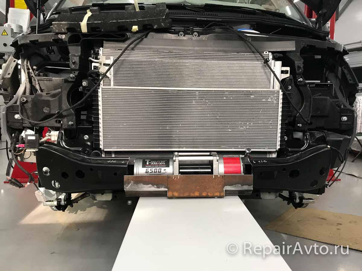 Установка лебедки на Volkswagen Caravelle