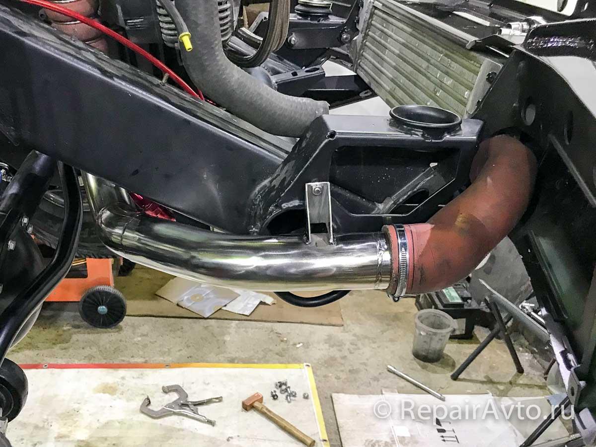 Изготовление входного патрубка интеркулера