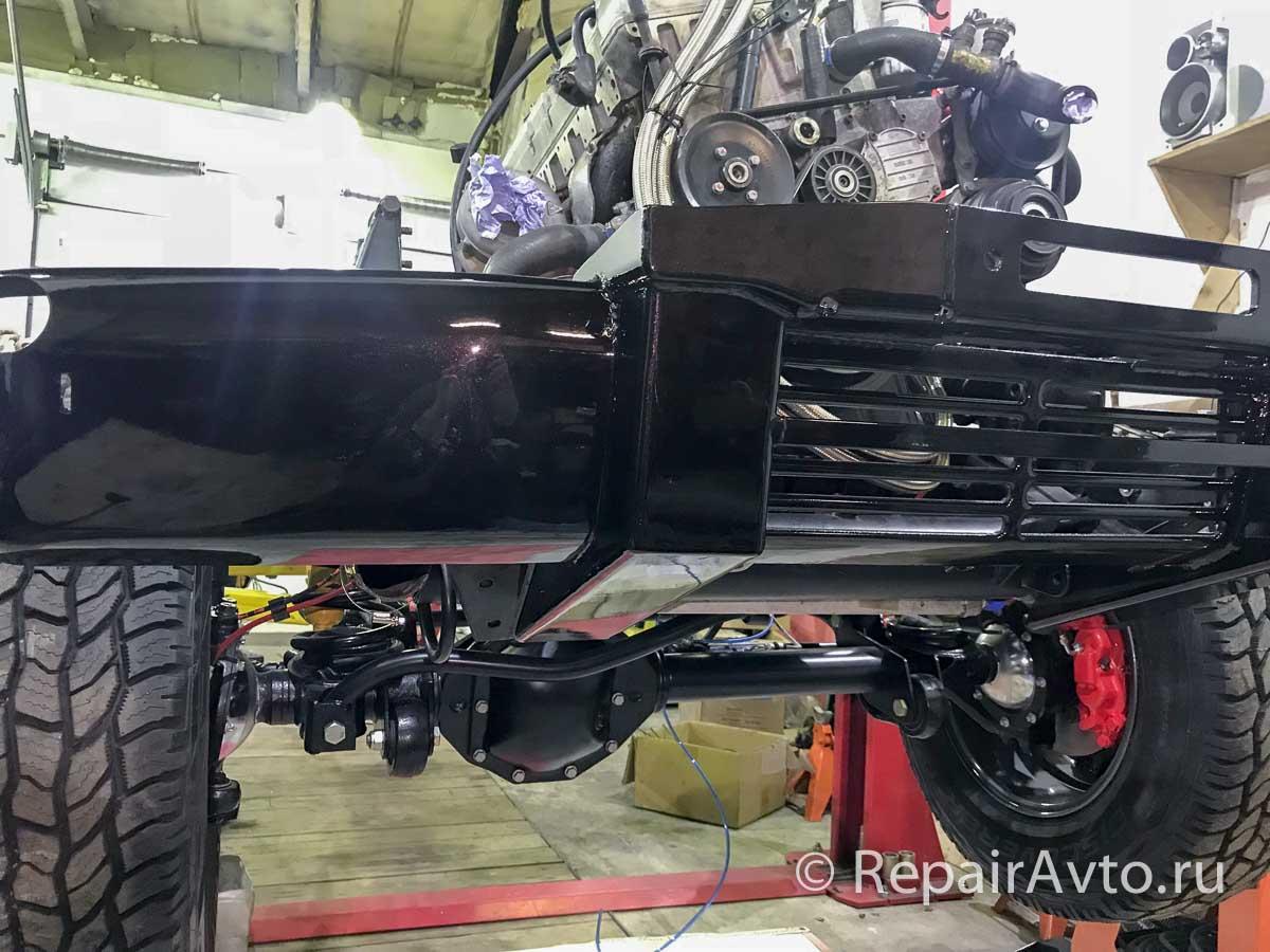 Установка переднего бампера Mercedes-Benz G-Class