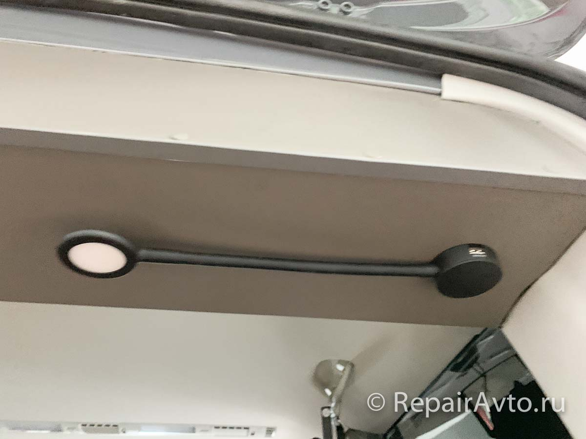 Освещение салона автодома Volkswagen Caravelle